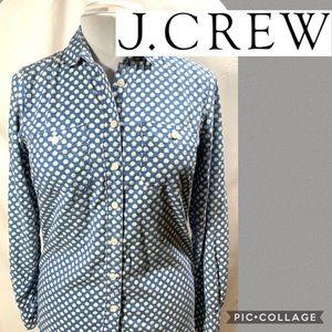 J.Crew floral denim button up shirt